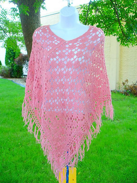 Ravelry: Two Rectangle Poncho pattern by Coral G
