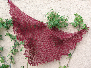Tuch / shawl *Filigrano*  pattern by Birgit Freyer