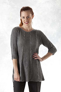 Ravelry 5406e Ribbed Cable A Line Swing Pullover Pattern