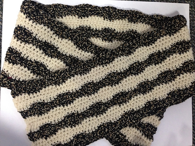 Ravelry Wave Lengths Mens Scarf Pattern By Jackie Obrien