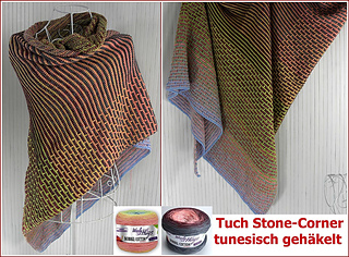 Ravelry Tuch Stone Corner Pattern By Veronika Hug Woolly Hugs