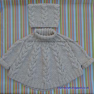 17b7844770f0 Ravelry  Vanilla Cloud Poncho and Hat Set pattern by Tatsiana Matsiuk