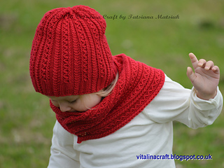 4fdaf36c697 Ravelry  Tiny Cables Hat and Scarf pattern by Tatsiana Matsiuk