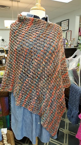 Ravelry Vickiwithnoes Outback Cell Stitch Poncho