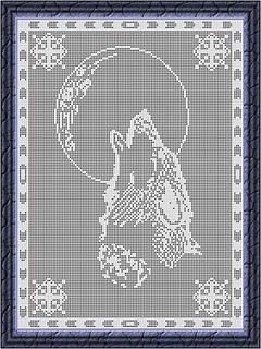 Ravelry Filet Crochet Wolf Moon Pattern By Viktoria Lyn