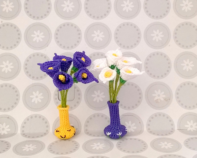 Ravelry Mini Calla Lily Flower Crochet Pattern By Vina Amigurumi