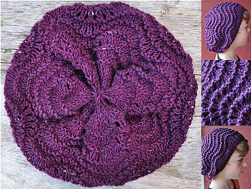 Ravelry Feather Fan Slouchy Beret Pattern By Violet Green