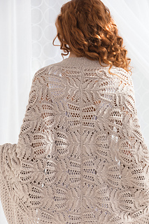 #01 Lace Cocoon Cardi-Spanish Lace Cocoon pattern by Joan McGowan-Michael