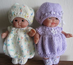 Knitting Patterns For 5 Inch Dolls : Ravelry: Bubble Dress & Hat Set 5 inch Itty Bitty Baby ...