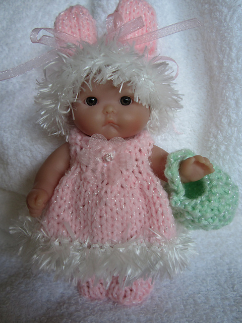 ea7fc1f3e Ravelry  Bunny Dress Set 5inch Berenguer Itty Bitty Baby Doll WG319 ...