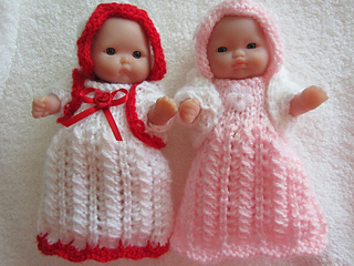 47a98e32a Ravelry  Lace Gown Set 5inch Berenguer Itty Bitty Baby Doll pattern ...