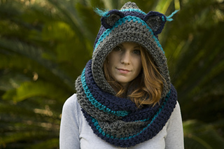 Ravelry hooded scarf with cat ears cat scoodie pattern by melissa wellravelled dt1010fo