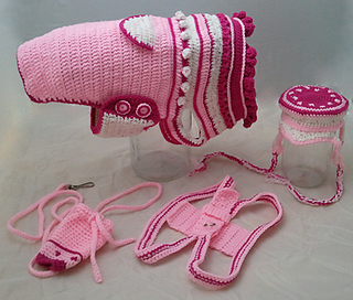 Precious in Pink no crmark 70_small2 ravelry (harness) precious in pink dog harness pattern by lori