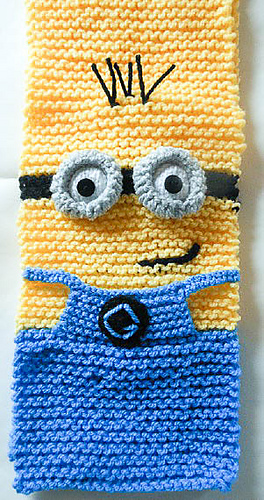 Ravelry Minion Character Scarf Knitted Version Pattern By Wistfully