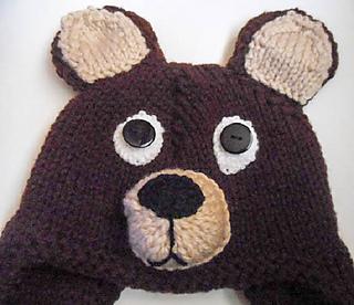 Knitted Teddy Bear Pattern Ravelry : Ravelry: Teddy Bear Hat knit pattern by Wistfully Woolen