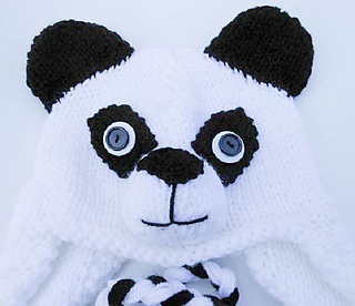 Ravelry  Panda Hat Knit pattern by Wistfully Woolen 08413b17c46