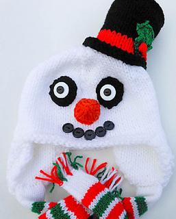 567f21d25dab8 Ravelry  Snowman Hat Knit pattern by Wistfully Woolen