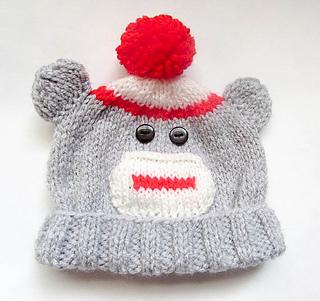 76349de486d35 Ravelry  Sock Monkey Baby Beanie Hat pattern by Wistfully Woolen