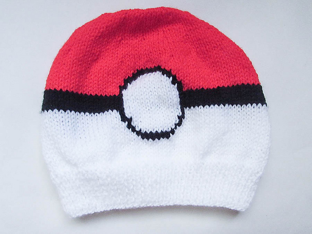 patterns   Wistfully Woolen s Ravelry Store.   Pokemon Pokeball Beanie Hat e8fcc6f778b4