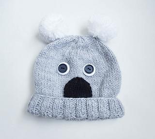 06085454edef7 Ravelry  Koala Animal Baby Hat pattern by Wistfully Woolen