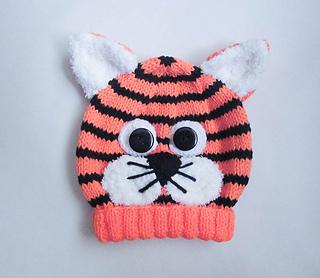 5aae147b94ff9 Ravelry  Tiger Animal Baby Beanie Hat pattern by Wistfully Woolen