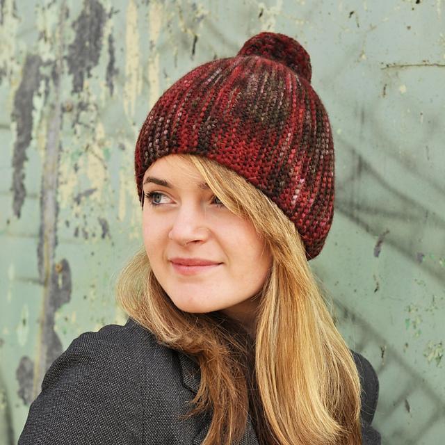 Ravelry Sideways Bobble Hat Pattern By Woolly Wormhead