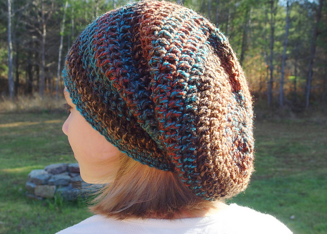 Ravelry Seamless Spiral Bulky Slouch Hat Pattern By Yarn Me Silly