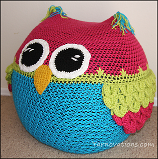 Ravelry Owl Bean Bag Chair Pattern By Yarn Twins