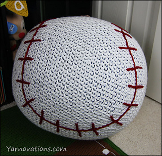 Pleasant Baseball Bean Bag Chair Pouf Pattern By Yarn Twins Ncnpc Chair Design For Home Ncnpcorg