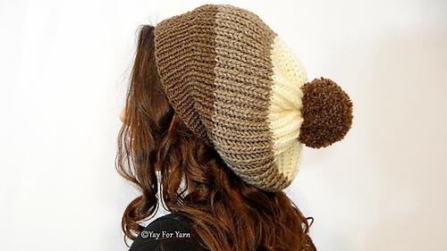 Ravelry Chunky Shortcut Brioche Slouch Hat Pattern By Yay For Yarn