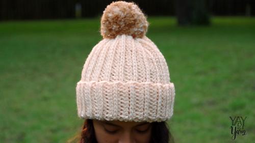 Knit-Look Crochet Hat pattern by Yay For Yarn Patterns 2b7796cb1b3