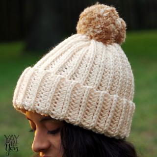 Ravelry  Knit-Look Crochet Hat pattern by Yay For Yarn Patterns 218d2382b45