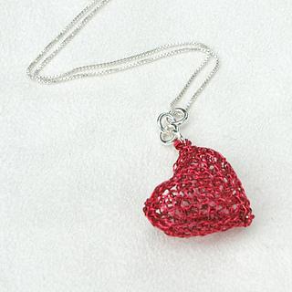 Ravelry Diy Wire Crochet Heart Pendant Step By Instruction Yooladesign Jewelry Pattern Yael Falk