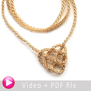 Ravelry Celtic Heart Wire Crochet Necklace Pattern By Yael Falk