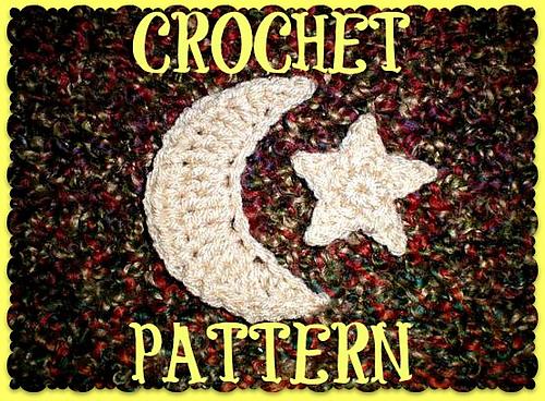 Ravelry: Crochet Crescent Moon & Star pattern by *Zeynabu-Le\'Von*