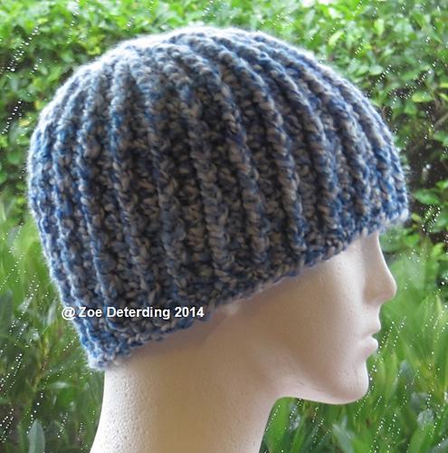 Ravelry Chunky Ribbed Hat Pattern By Zoe Deterding