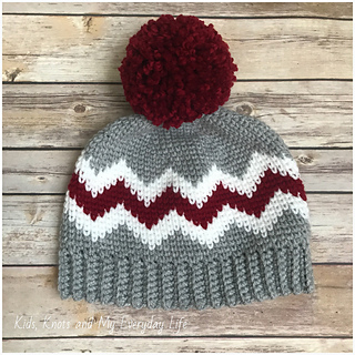 273447edd62 Ravelry  Chevron Knit Look Hat pattern by Kelsey Daughtry