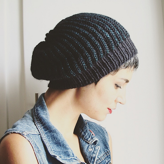 patterns   Lavanya Patricella s Ravelry Store.   Brioche Slouch Hat d016fdb4023