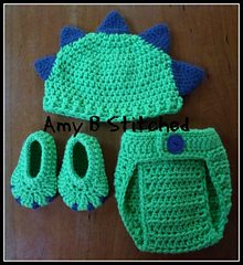 Ravelry Dinosaur Baby Hat And Diaper Cover Set Pattern By