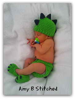 7256e8a90a6 Ravelry  Dinosaur Baby Hat and Diaper Cover Set pattern by Amy B ...