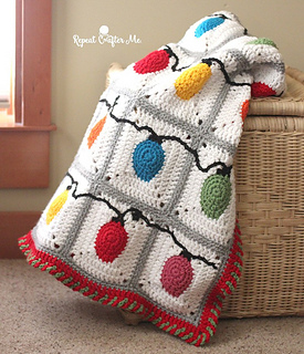 ravelry christmas lights blanket pattern by sarah zimmerman