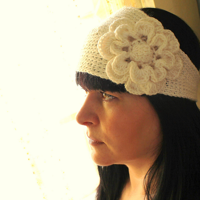 Ravelry Crochet Headband Flora Pattern By Angela Juergens