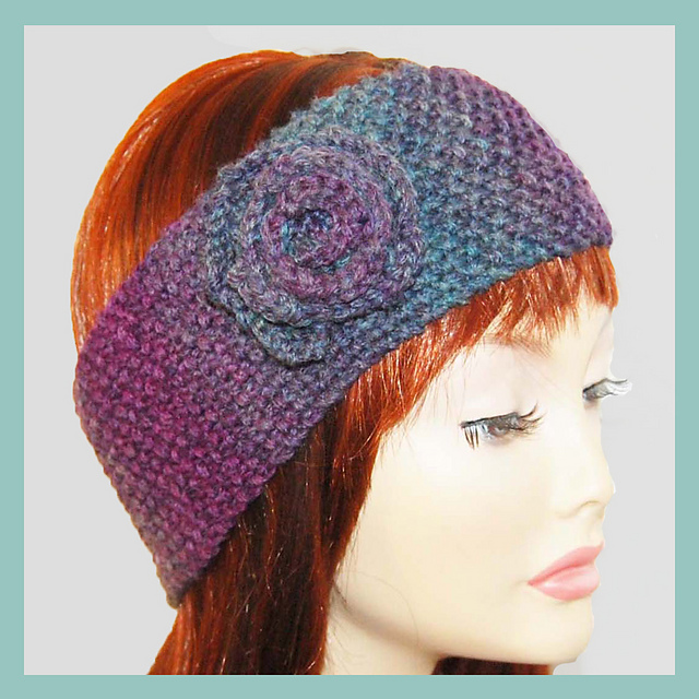 Ravelry Tracy Rose Corsage Wide Wrap Headband Pattern By Adel Kay