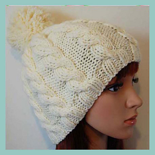 7d6abca8071 Ravelry  Andrea Cable Bobble Beanie pattern by Adel Kay