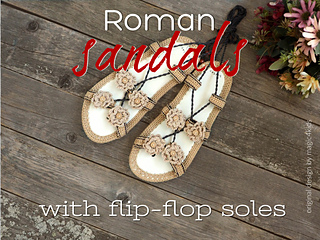 aaac20632c0a0 Roman sandals pattern by Adriana M.