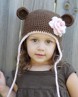 1efcac62b59 Ravelry  Monkey Earflap Hat pattern by Adrienne Engar