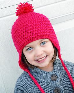 Ravelry  Puffy Earflap Hat pattern by Adrienne Engar a9ff04ef23ec