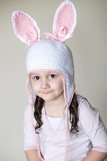 72a4d5e0cc4 Ravelry  Bunny Earflap Hat pattern by Adrienne Engar