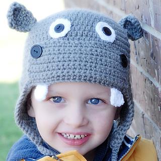 Ravelry  Hippo Earflap Hat pattern by Adrienne Engar a540b1da0cc2
