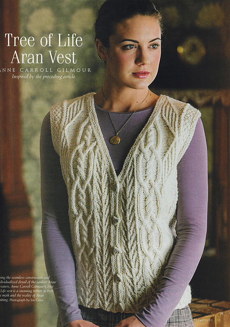 Ravelry Tree Of Life Aran Vest Pattern By Anne Carroll Gilmour
